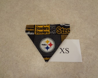 Pittsburgh Steelers dog bandana-over the collar-XS