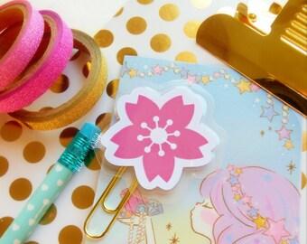Sakura Planner Paper Clip Pink Cherry Blossom Planner Clip Bookmark Cute Page Marker Planner Accessories