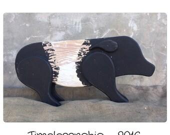Decorative Pig - Wooden Pig - Wood Pig - Rustic Pig - Primitive Pig - Piggy - Piggie - Yard Decor - Garden Decor - Pig Decor - Pig Yard Art