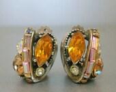 Hollycraft Orange Earrings