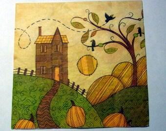 Decoupage Napkins,  vintage paper napkins, house and garden