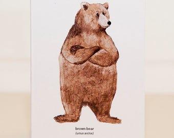 Brown Bear Mini Card