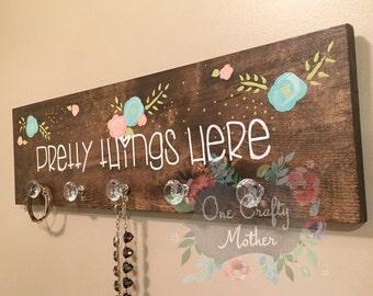 Pretty Things Here  Hanger, Jewelry Rack
