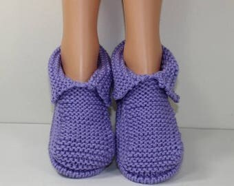50% OFF SALE Adult Chunky Slippers knitting pattern by madmonkeyknits - Instant Digital File pdf download knitting pattern