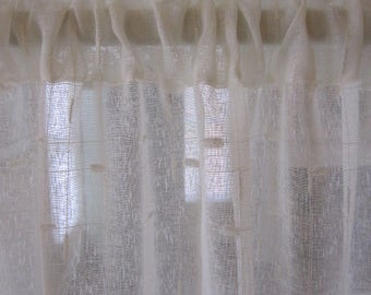 Off White Sheer Curtain with Textured Design 50 wide x 84 long...a total of 4 are available