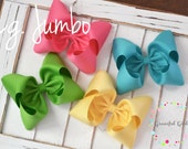 "Large Jumbo 5.75"" Single Layer Bow"