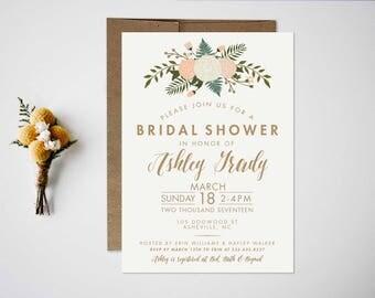 Bridal Shower Invitation  Wedding Shower Invitation  Botanical Bridal Shower  Bridal Shower Invite  Wedding Invitation  Shower