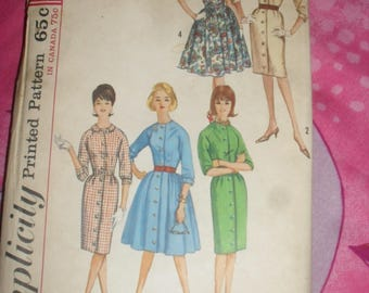 Vintage Simplicity  Sewing Pattern - One piece Dress with two Skirts - 1960s - # 5036