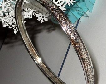 Danecraft Rolled Band Sterling Silver Bangle Bracelet