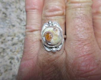 Sterling Silver Mexican Jelly Opal Ring - Size 9 1/4 - FREE RESIZING