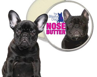 French Bulldog ORIGINAL NOSE BUTTER® All Natural, Handcrafted Balm for Dry Crusty Dog Noses 2 oz Tin Your Choice of 7 Frenchie Labels