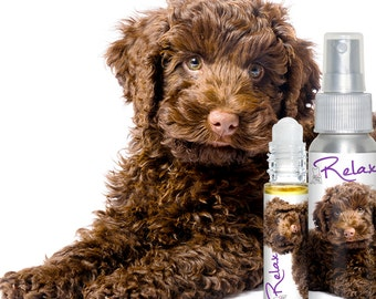 LABRADOODLE RELAX Aromatherapy Handcrafted All Natural for Fear and Anxiety in Dogs Helps Stress, Thunderstorm and Travel Anxiety
