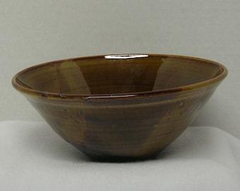 Rich Brown and Pumpkin Porcelain Bowl
