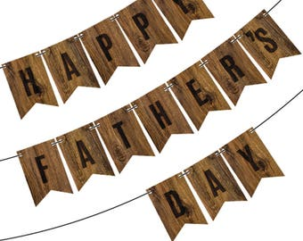 Happy Father's Day Wood Banner (7 ft)