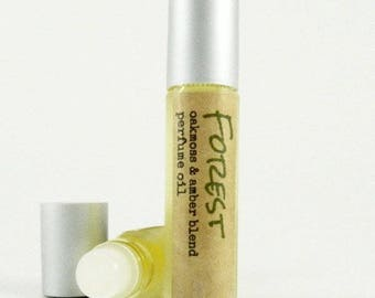FOREST Perfume Oil / Oakmoss and Amber Fragrance Roll On