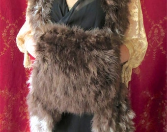 1920s-1930s Marabou Swansdown Shawl & Muff Set Perfect Winter Flapper Accessory