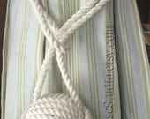 2/14 inch tieback - in Cream Cotton