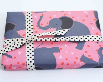 Elephant Gift Wrap, Gift Wrap Sheets, Zoo Animals Wrapping Paper, Animal Gift Wrap, Elephant Present Paper, Gift Wrapping, Zoo Stationery
