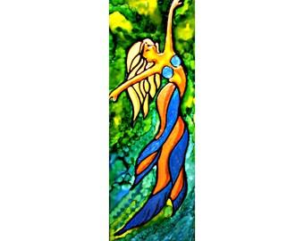 mermaid wall decor | decorative tile decor | sea siren decor | mythical ocean creature | mermaid paintings | fantasy decor | coastal decor
