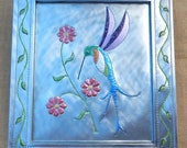 Large Tin Punch Hummingbird Wall Decor  ~  Tin Punch Hummingbird