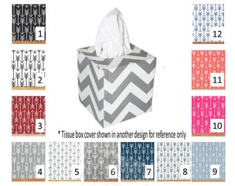 Arrow tissue box cover - Your choice of size and pattern  - Standard lay-down, family size or cube
