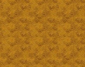 NEW Bear Paws Craft 100% Cotton Quilt Fabric One Yard Cut of Gold Grass Tonal