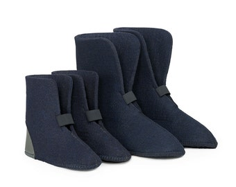 "10"" High Wool Felt Boot Liners - Blue, 85% Wool, Style 824/826BB, Boot Insert"