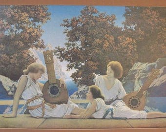 Maxfield Parrish - The Lute Players - Framed print - 1971