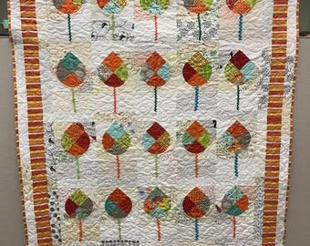 Colorful Trees Quilt