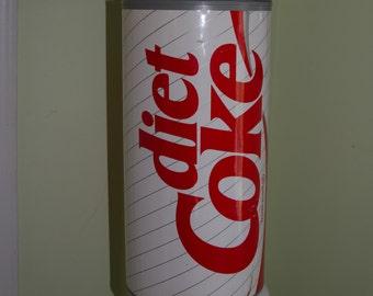Vintage 1990's Super Huge Diet Coke Plastic Bank 18 inches High
