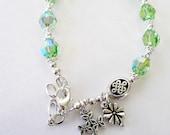 PRIVATE LISTING for Katy De Sousa Peridot SWAROVSKI Irish Single Decade Rosary Bracelet