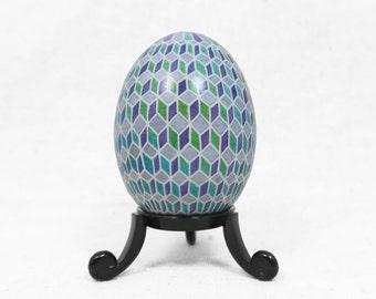 Pysanky, Ukrainian, Escher, Geometric, Modern, Easter Egg, Purple Geometric, Gray Geometric, Purple Modern, Ukraine, Ukrainian Pysanky -G24D