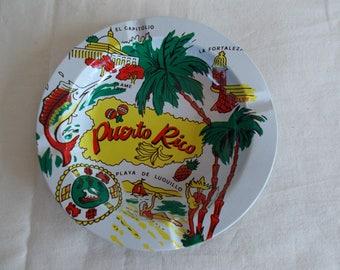 Vintage Puerto Rico Metal Ashtray