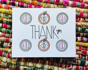Fruit Thank You Card (blank)