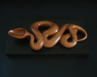 OPHIDIA  wooden spoon hand carved by Spoontaneous, wood spoon, wood carving, art spoons, kitchen, sculptural spoon