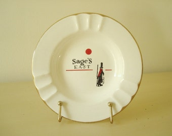 Sage's East vintage ashtray, legendary Chicago restaurant souvenir, Chicago history buff, Lake Shore Drive venue