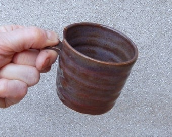 Espresso coffee cup or whisky tumbler in stoneware hand thrown ceramic pottery wheelthrown handmade