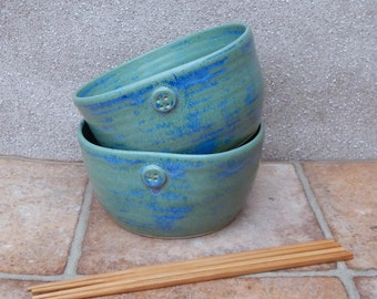 Soup, cereal, noodle or rice bowls hand thrown in stoneware wheelthrown ceramic handmade pottery