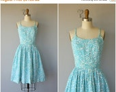 25% OFF HOLIDAY SALE... 60s Sun Dress | 1960s Dress | Vintage 60s Dress | Clover Print Dress | 60s Day Dress | 50s Sun Dress | 1950s Dress