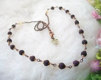 Rose Petal Bead Necklace Fragrant Handmade Rose Petal Bead Jewelry Organic Handmade Beads Natural Necklace