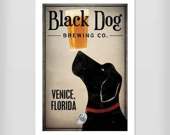 LABRADOR Beer Black Dog Brewing Co. Print Signed Beer Wine Coffee Tea Martini Donut