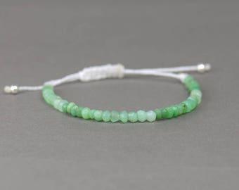 Chrysoprase bracelet