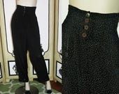 90's Shelly Segal High-Waisted Rayon Pants. Small.