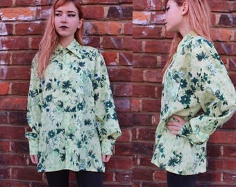 Vintage 70s Floral Button Up Shirt