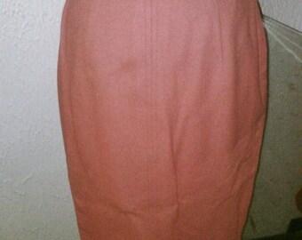 BIG SALE Pink Perfection 50's Pinup Va Va Voom Wool Pencil Skirt  - S/M