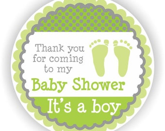 It is a Boy Baby Shower - Thank You 2inch circle Stickers - Baby Shower Labels - Envelope Seal - Address Labels - Personalized Labels