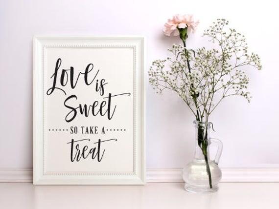Digital Download Love is Sweet, printable sign, Sweet Treat Sign Printable, DIY Wedding