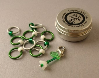 ringOs XL Limited Edition Snowdrops - Snag-Free Ring Stitch Markers for Knitting
