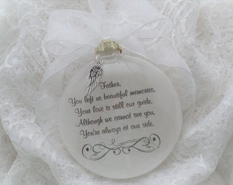 Memorial Ornament Father You Left Us Beautiful Memories Personalized FREE