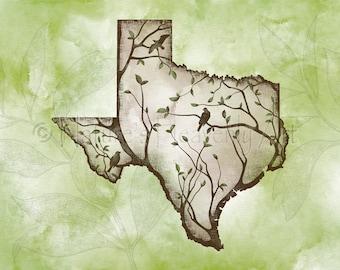 11 x 14 Texas Wall Art, Texas State Art Print, Texas State Wall Art, Texas Print, Texas Wall Decor, Texas Art, Lone Star State  (300)